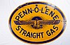 Rare Penn-O-Lene Double Sided Porcelain Sign