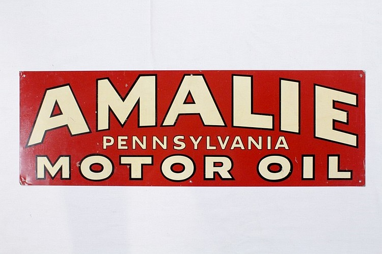 Original Amalie Motor Oil Single Sided Tin Sign