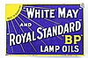 Rare Royal Standard BP Lamp Oils DSP Flange Sign