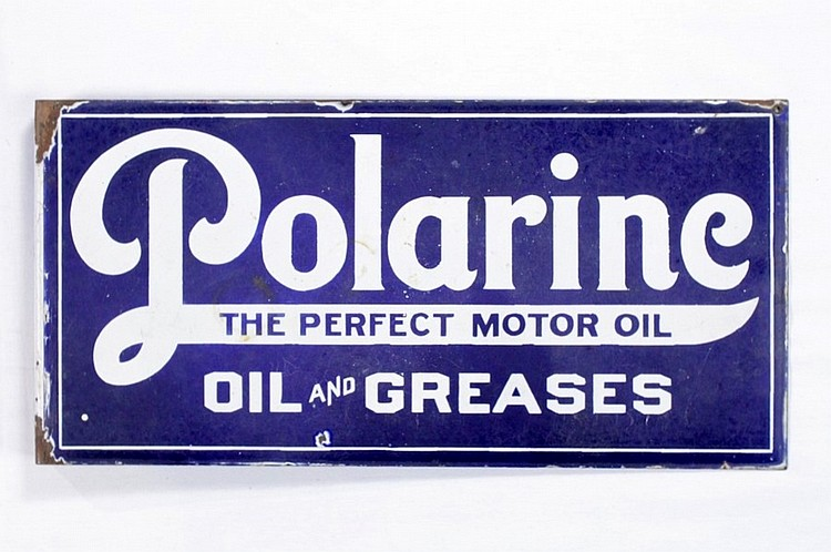 Early Polarine Oil & Greases DSP Flange Sign