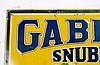 Rare Early Gabriel Snubbers SST Embossed Sign