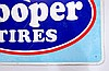 Cooper Tires Single Sided Tin Sign