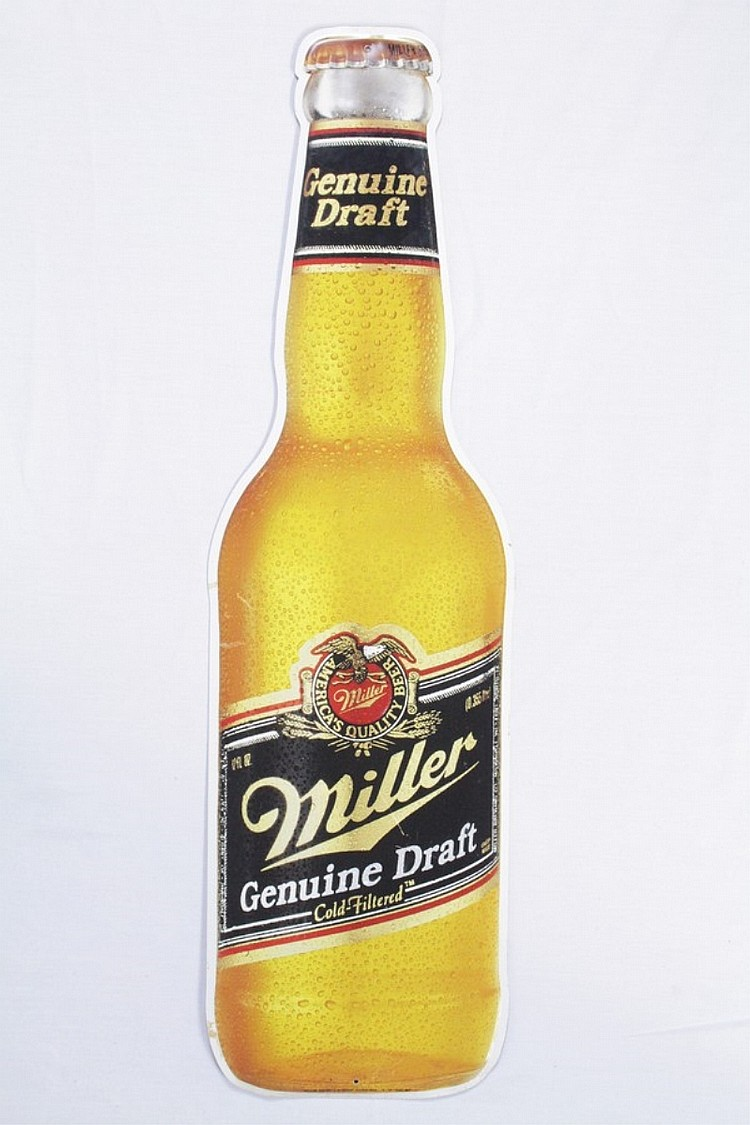 MGD Miller Genuine Draft Bottle SST Sign