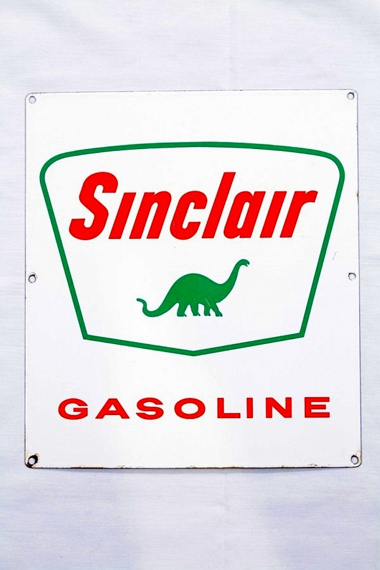 Sinclair Gasoline Porcelain Gas Pump Plate