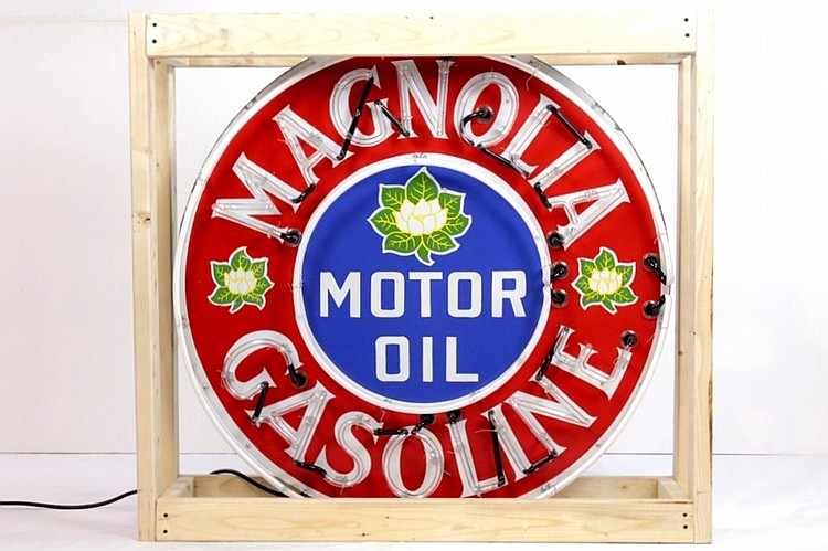 Original Magnolia Gasoline SSP Neon Sign