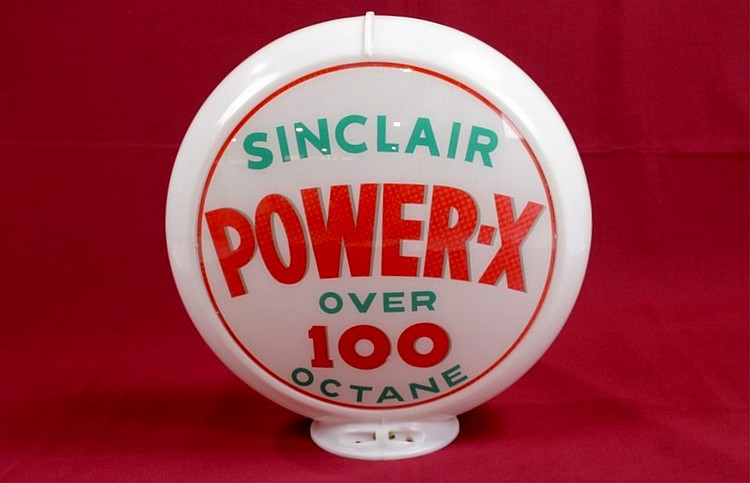 Sinclair Power-X Gas Pump Globe On Original Capco
