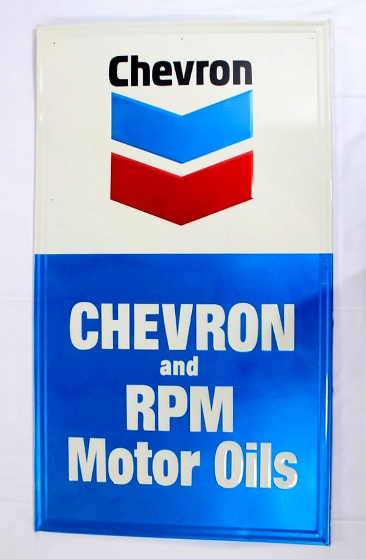 Chevron and RPM Motor Oils SST Sign