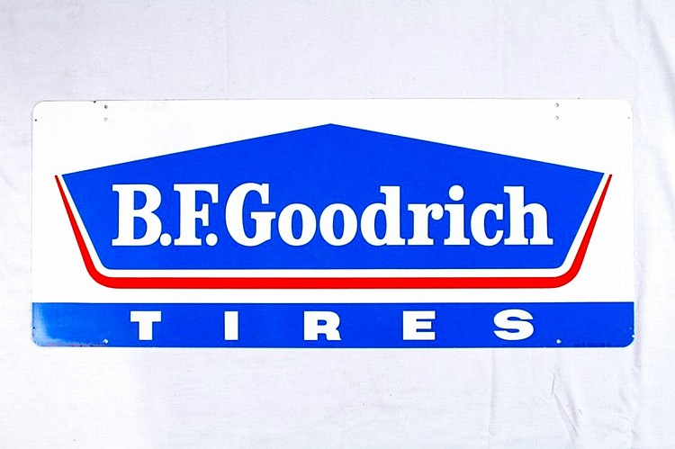 Original B.F. Goodrich Tires Double Sided Tin Sign