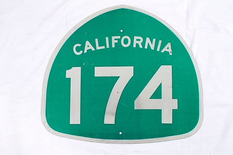 Original California Route 174 Road Sign