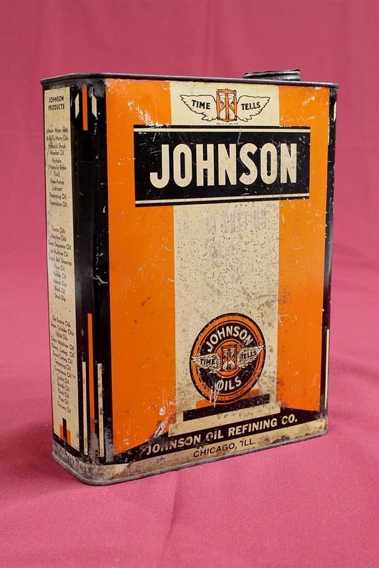 Original Johnson Oil Thread Cutting Oil Can