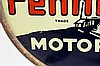 Rare Pennfield Motor Oil DSP Lollipop Sign