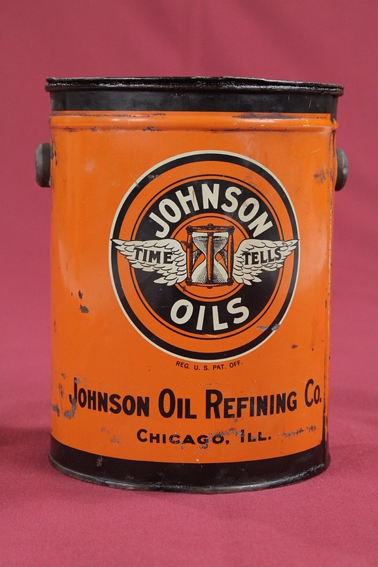 Original Johnson Oils 5lb Grease Can