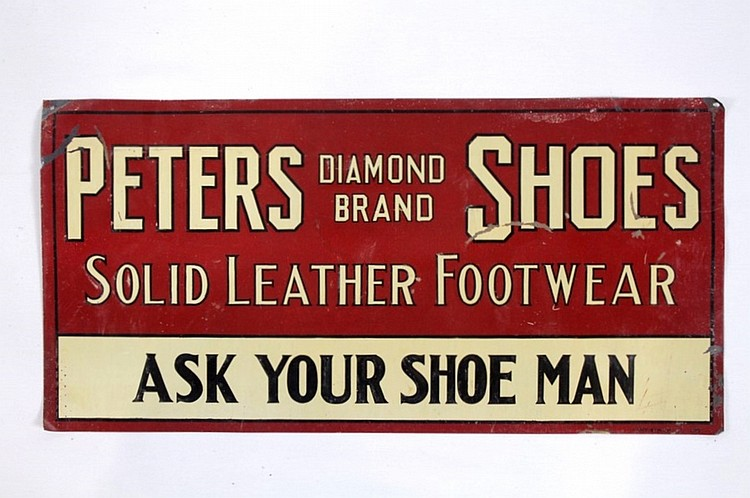 Peters Diamond Brand Shoes SST Sign