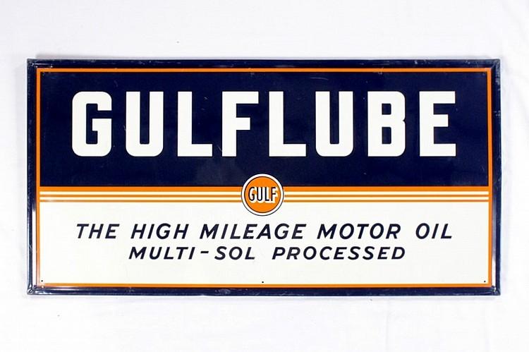 Original Gulf Gulflube Motor Oil SSTE Sign