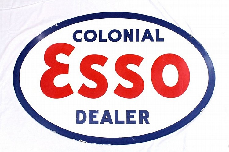 Original Colonial Esso Dealer DSP Sign