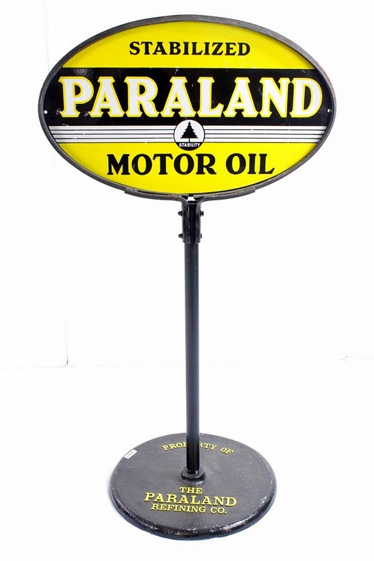 Rare Paraland Double Sided Porcelain Lollipop Sign