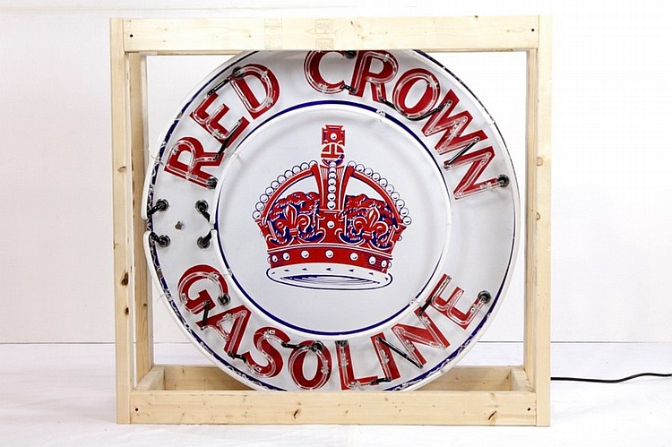 Original Red Crown Gasoline SSP Neon Sign