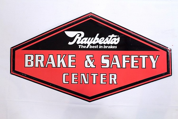 Raybestos Brakes Single Sided Tin Sign