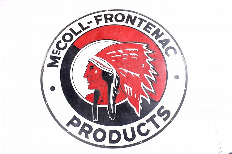 Rare Original McColl Frontenac Red Indian SSP Sign