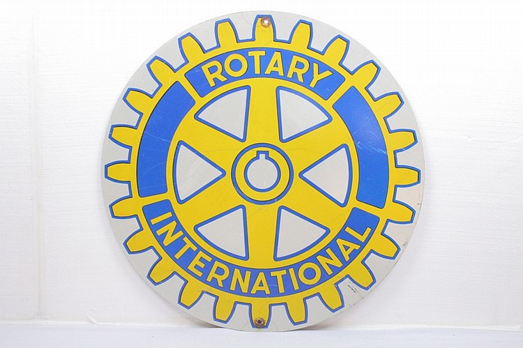 Rotary International Single Sided Steel Sign