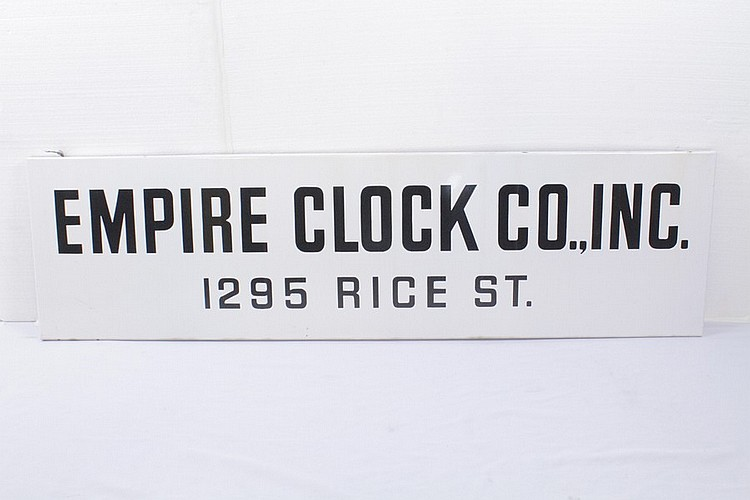 Empire Clock Co., Inc. Porcelain Sign