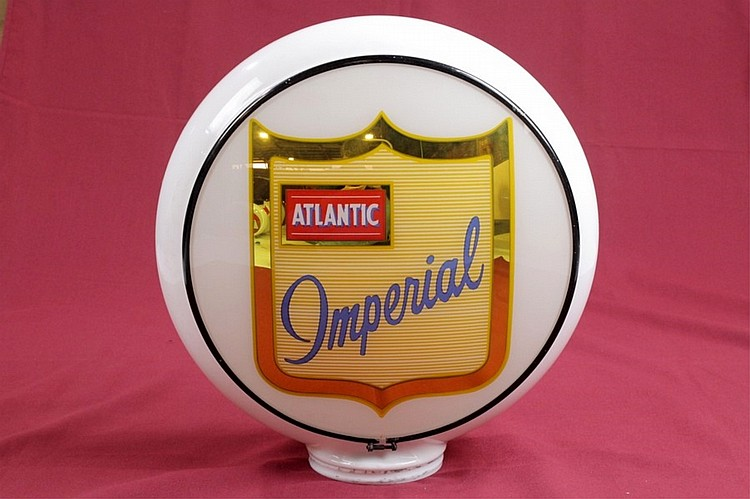 Atlantic Imperial Gas Pump Globe on Gill Body