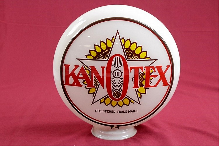 Kanotex Gasoline Gas Pump Globe on Gill Body