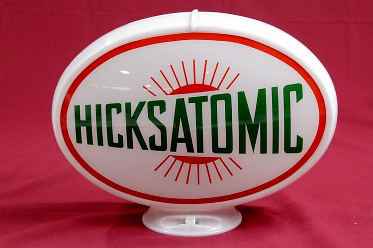 Hicks Atomic Gasoline Oval Gas Pump Globe
