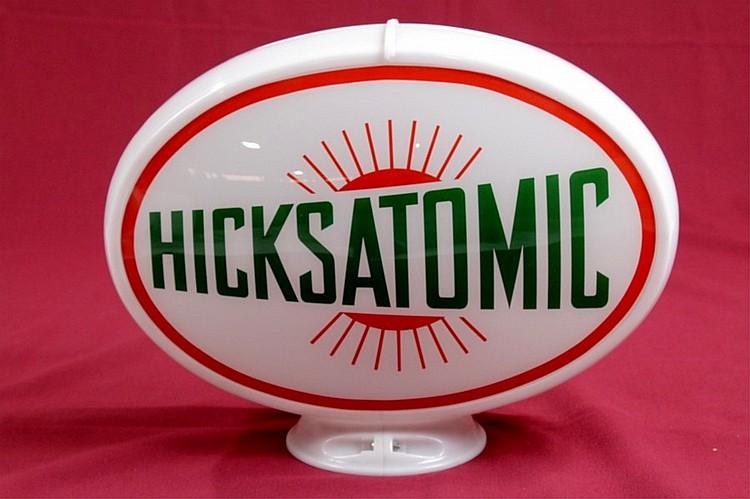 Hicks Atomic Gasoline Oval Gas Pump Globe
