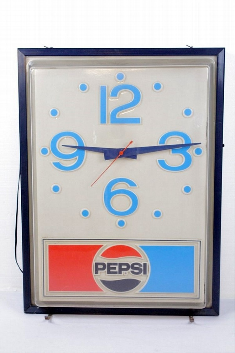 Electric Pepsi Advertising Hanging Wall Clock