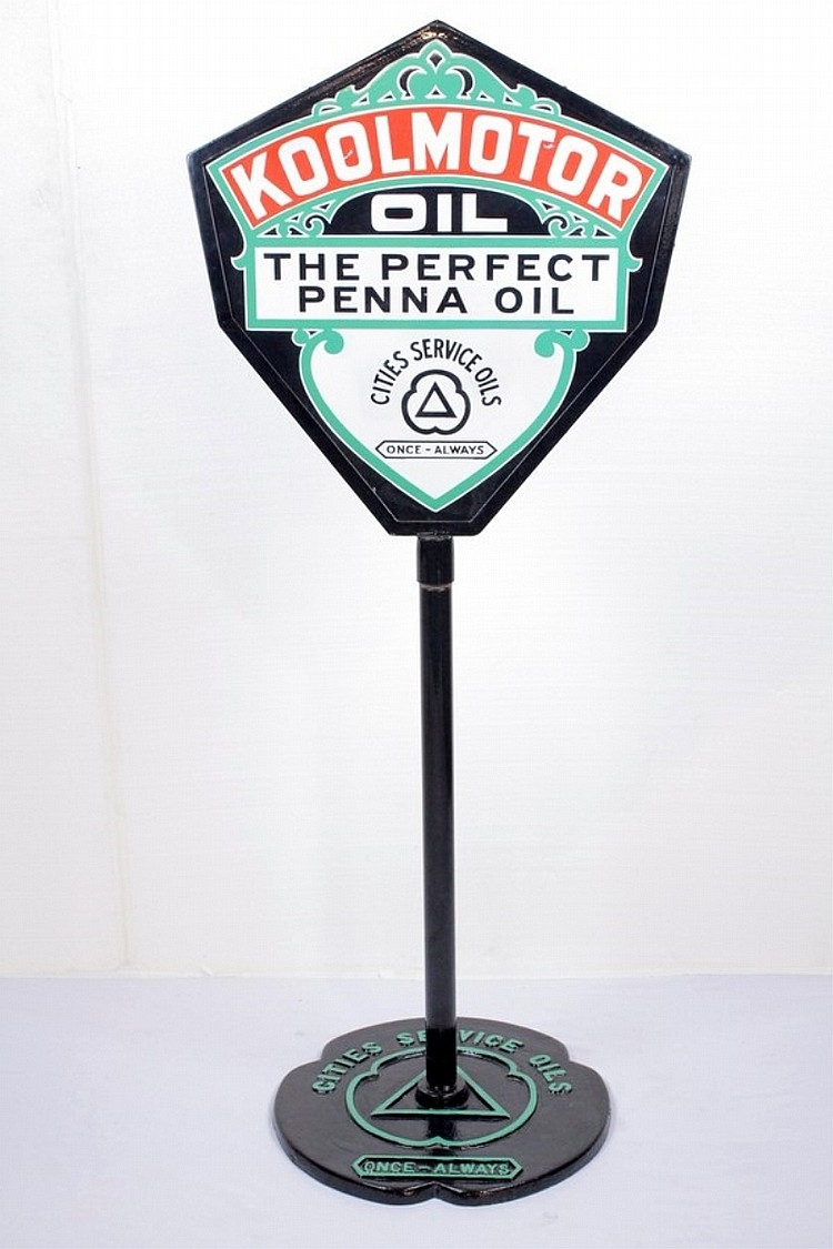 KoolMotor Oil Porcelain Lollipop Sign
