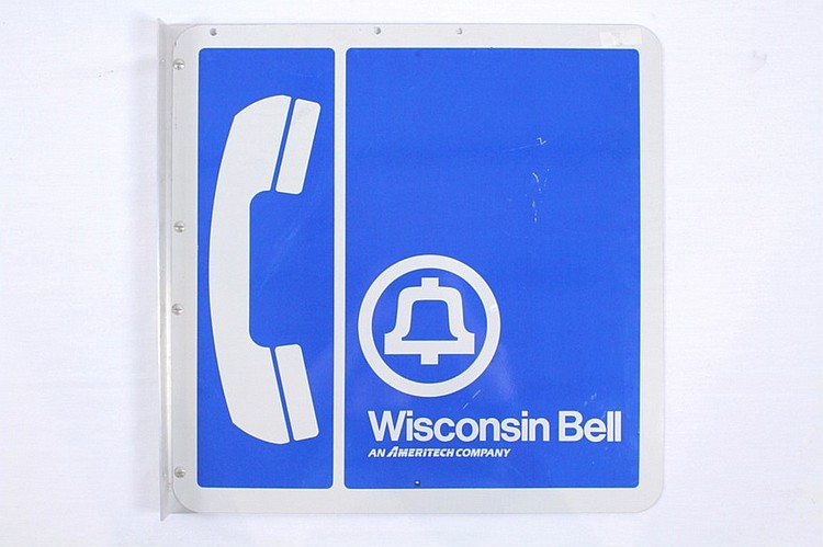 Wisconsin Bell Pay Phone Flange Sign