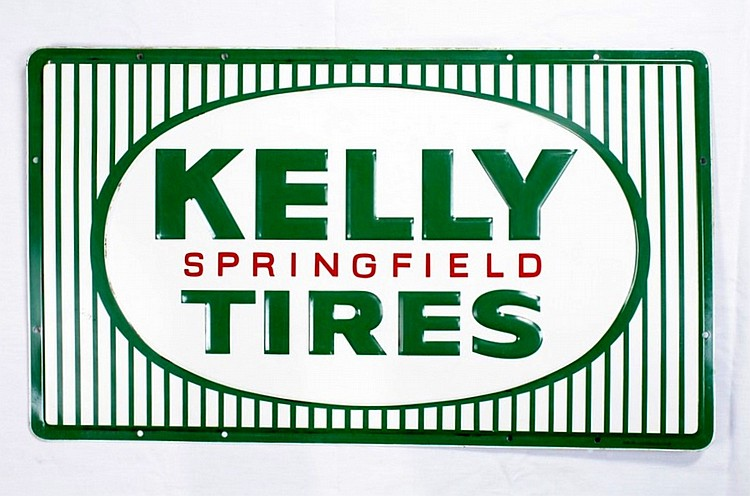 Kelly Tires SST Embossed Sign