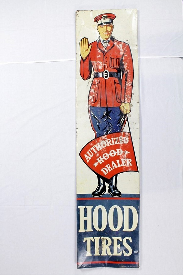 Early Vertical Hood Tires Tin Sign