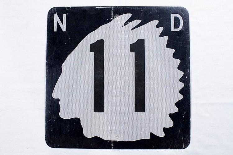 Original North Dakota Road Sign