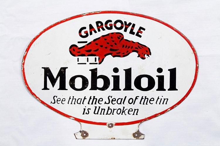 Rare Mobiloil Gargoyle Lubester Paddle SSP Sign
