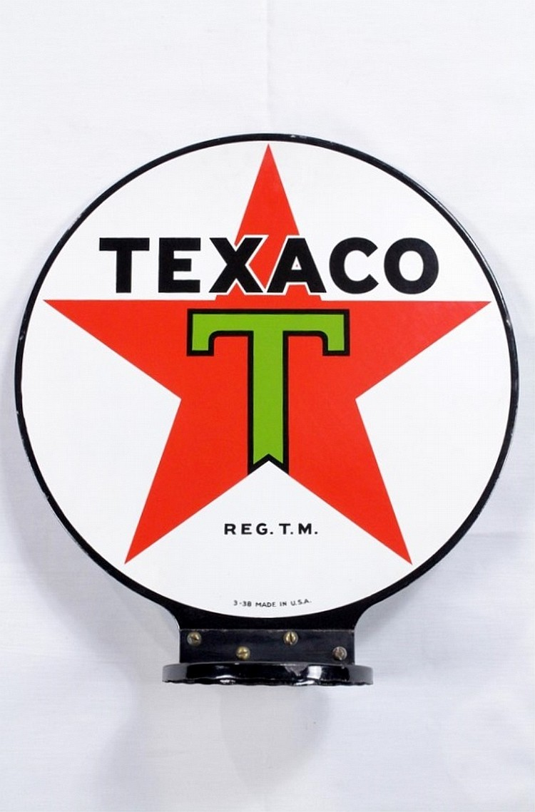 Very Rare Texaco Porcelain Gas Pump Globe DSP