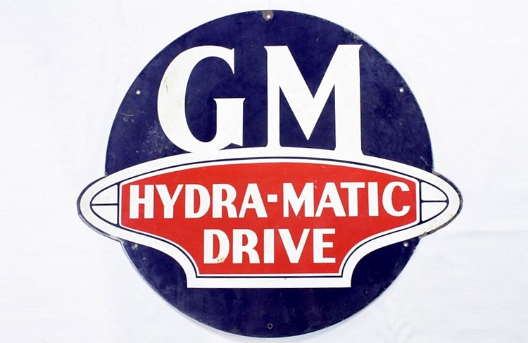 Original GM Hydra-Matic Drive Diecut SSP Sign