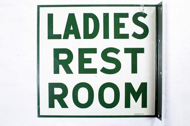 Original Ladies Rest Room DSP Flange Sign