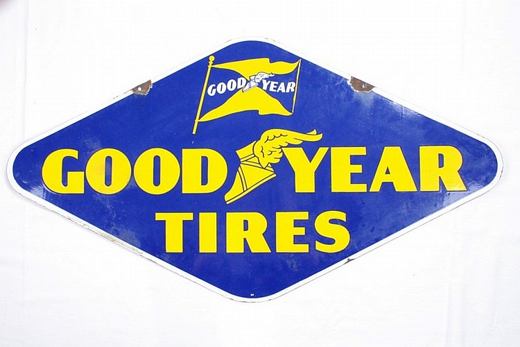 Original Goodyear Tires DSP Sign