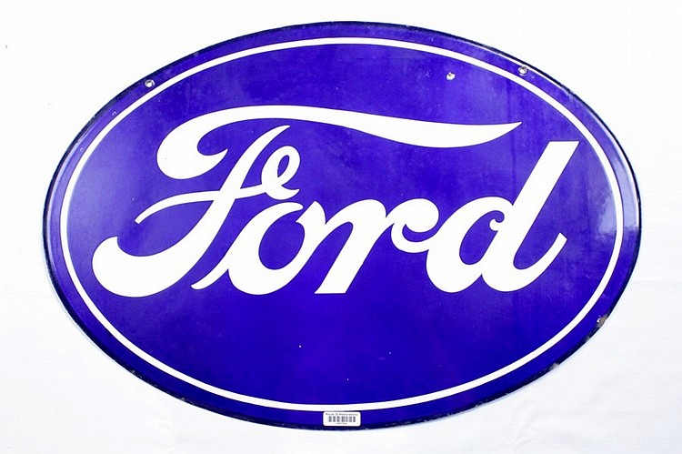 Original Ford Double Sided Porcelain Sign