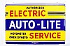 Rare AutoLite Authorized Electric Service DSP Sign