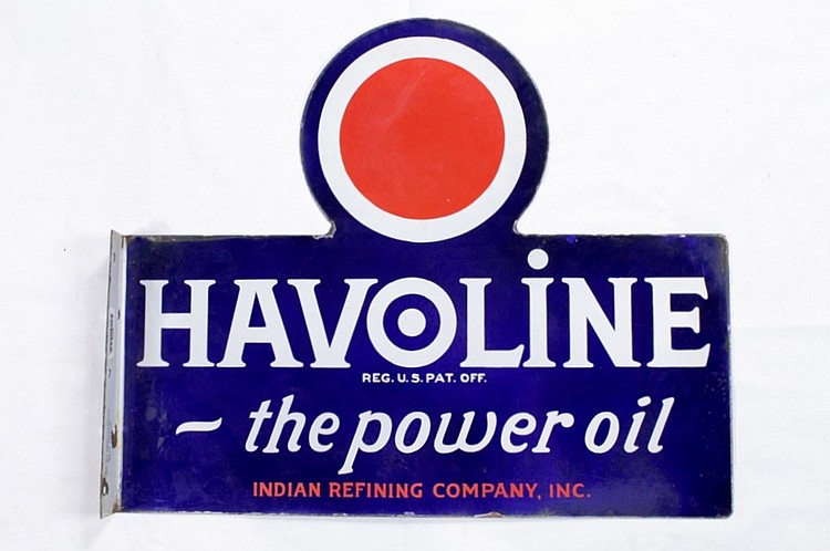 Original Havoline Motor Oil DSP Flange Sign