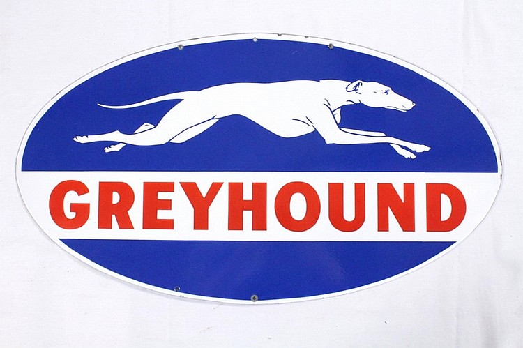 Original Greyhound Gasoline DSP Sign