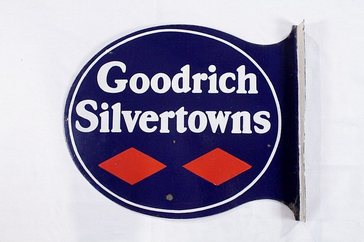 Orig. Goodrich Silvertowns Tires DSP Flange Sign