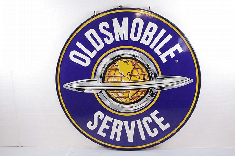 Oldsmobile Service Porcelain Hanging Sign