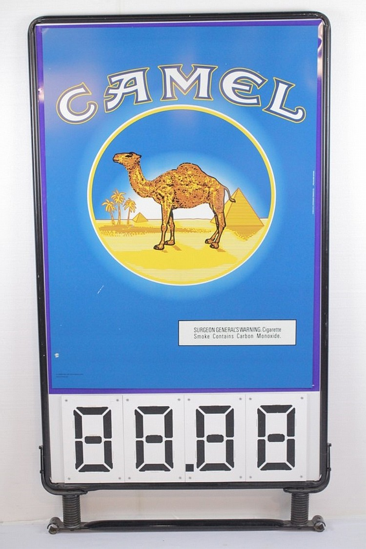 Camel Cigarettes Store Price Display Sign