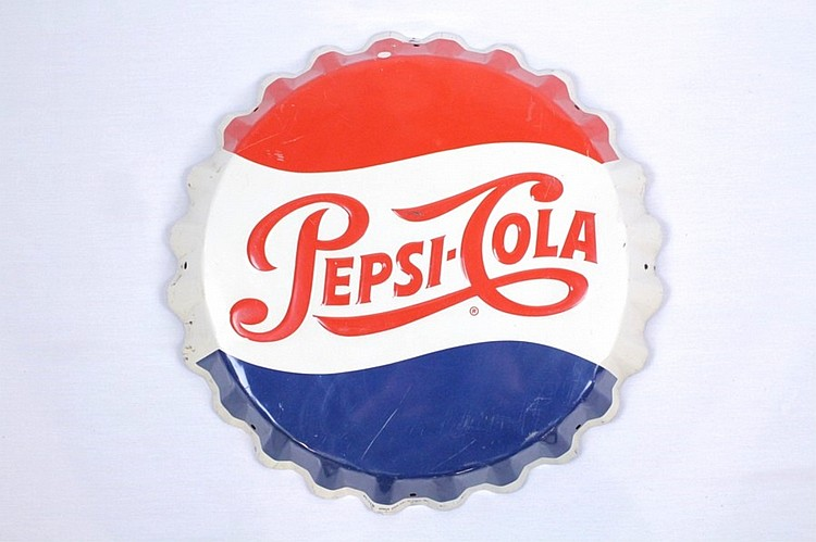 Pepsi Cola Bottle Cap Hanging Sign