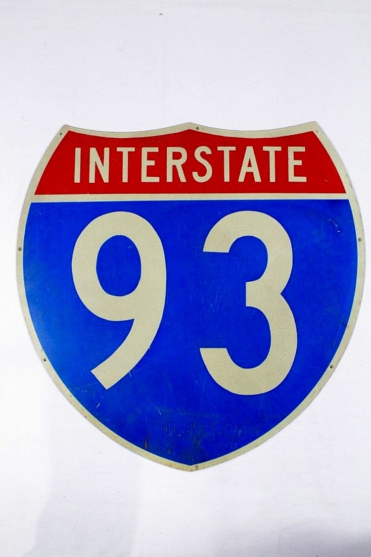 Original Interstate 93 Road Sign