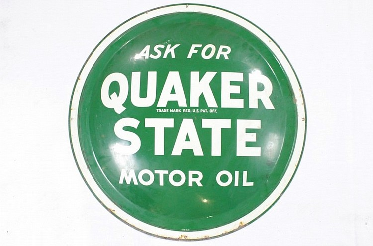 Original Quaker State Motor Oil SST Bubble Sign